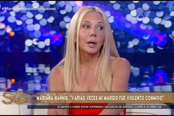 Mariana Nannis en el programa de Susana Giménez