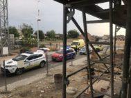 Servicios de Emergencia, Policía y Guardia Civil en el lugar del accidente.