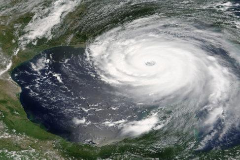 El huracán Katrina, visto desde el espacio, en 2006