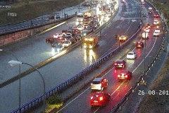 Gran tormenta en Madrid: cortes en la M-40 y en el metro y graves daños en el Este