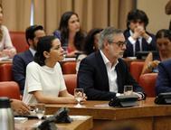 Inés Arrimadas y José Manuel Villegas, en la Diputación Permanente del Congreso.