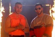 Manuel Turizo y Anuel AA en el vídeo de Te Quemaste, su nuevo single