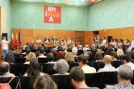 Presentación de los cursos de verano en Baeza de una pasada edición.