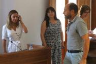 Zaragoza junto a sus 'socias': Mari Carmen Navarro e Inma Traver.