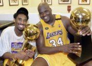 Kobe y Shaquille, con el título de la NBA.