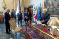 El presidente italiano, Sergio Mattarella, inicia la segunda ronda de contactos en Roma.