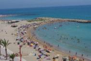 La playa del Fortí en una foto de archivo.