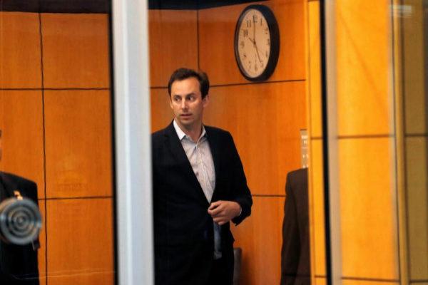 Anthony Levandowski antes de entrar a la vista previa del juicio.