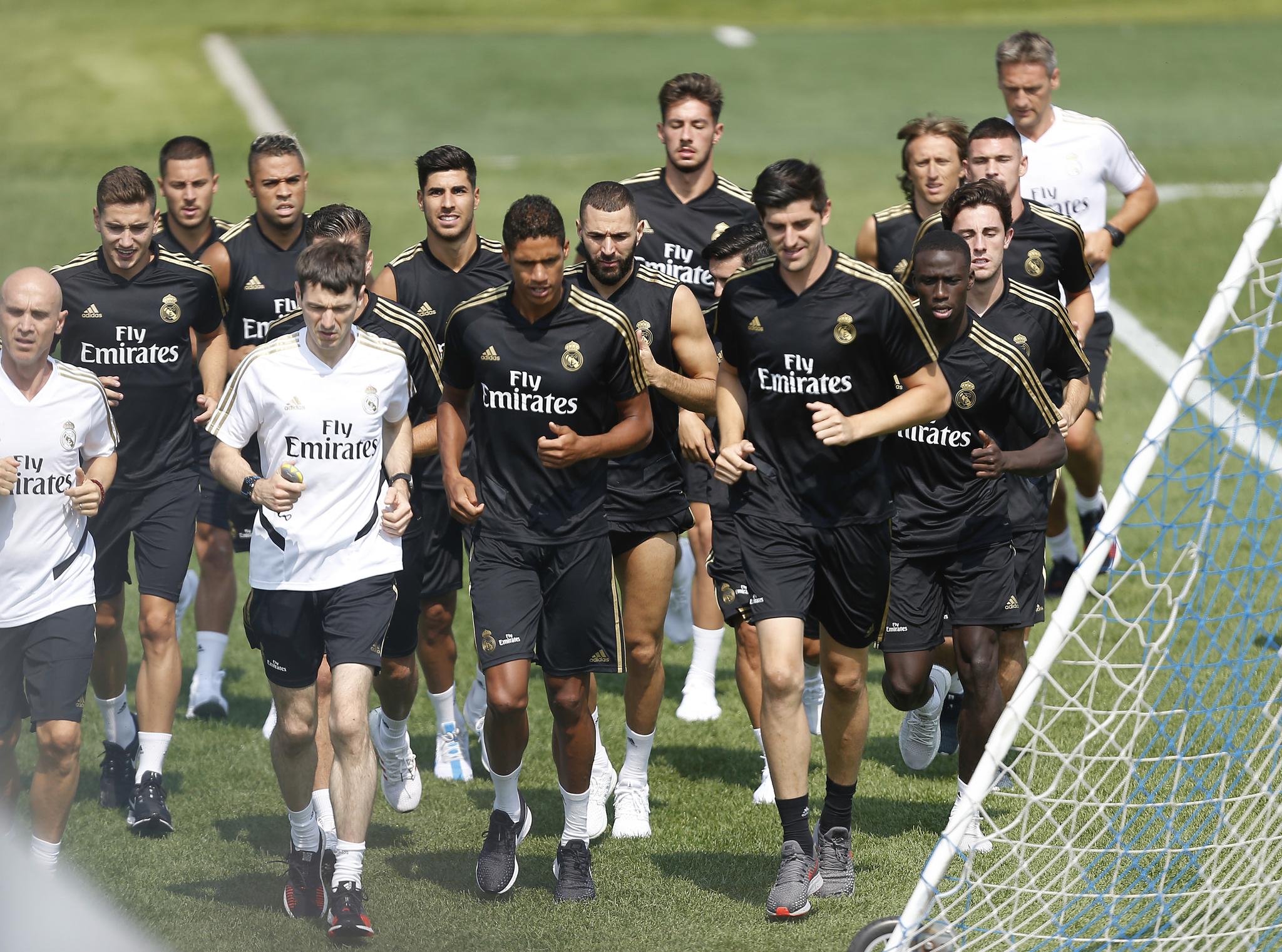 10.07.2019. Entrenamiento del Real Madrid. <HIT>Dupont</HIT>.