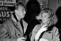 Jean Seberg junto a Romain Gary en París 1962
