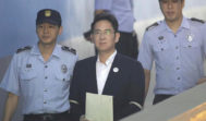 Lee Jae-Yong, tras su condena a cinco años de prisión por corrupción.