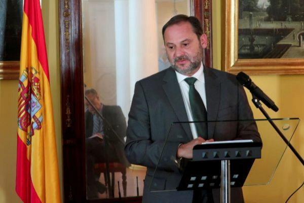 José Luis Ábalos, este miércoles en una rueda de prensa ofrecida en Moscú.