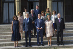 Foto de familia del consejo de Gobierno vasco reunido hoy en San Sebastián.