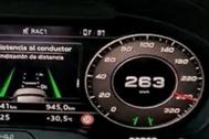 Imagen del cuentakilómetros en el vídeo grabado por el conductor.
