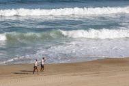 Una playa de Biarritz