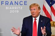 El presidente de EEUU, Donald Trump, en la última cumbre del G-7.