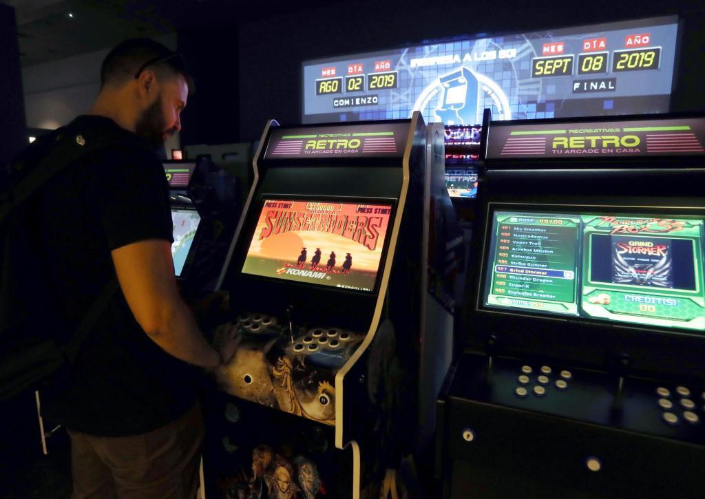 Exposición Fandome Arcade.