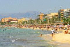 Hoteles en la Playa de Palma.