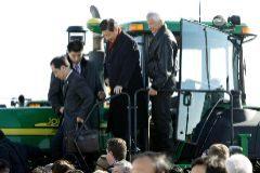 Xi Jinping, entonces vicepresidente, visitó enel año 2012 la granja de la familia Kimberley en Iowa.