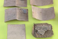 Cartas y postales encontradas en el bolsillo de un represaliado fusilado el 13 de julio de 1940 en Paterna.