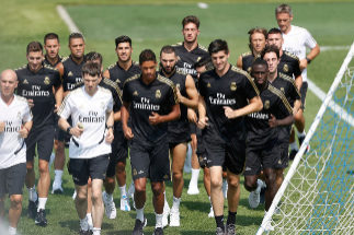 10.07.2019. Entrenamiento del Real Madrid. <HIT>Dupont</HIT>.