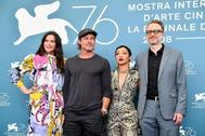 Liv Tyler, Brad Pitt, Ruth Negga y el director James Gray en el festival.