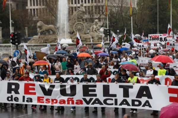 Manifestación a favor de la España rural el pasado mes de marzo.