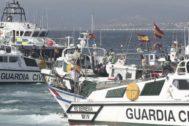 Lanchas de la Guardia Civil en el Campo de Gibraltar.