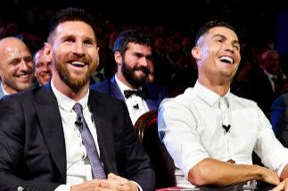 La complicidad entre Messi y Ronaldo y otros detalles de la gala