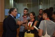 El consejero de Presidencia y portavoz de la Junta, Elías Bendodo, este martes con periodistas.
