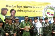 Captura del vídeo presentado por líderes guerrilleros disidentes de las FARC.