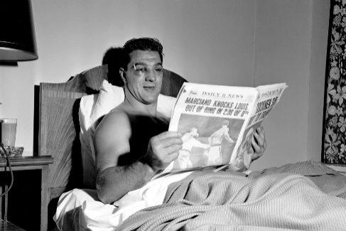 Rocky Marciano fue la estrella de los medios durante su reinado.