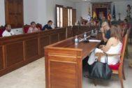 Imagen del pleno celebrado este jueves en la Vilavella.