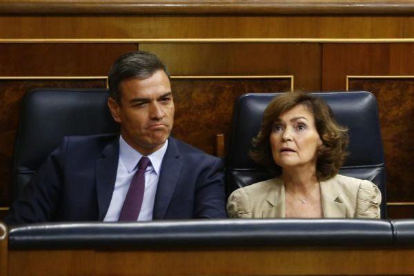 Sánchez y Calvo, el jueves en el congreso de los Diputados.
