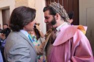 Fran Rivera conversa con Morante de la Puebla antes del inicio de la Goyesca del pasado año.
