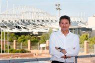 José Luis Berenguer, en le terraza de la sede de la Concejalía de Deportes.