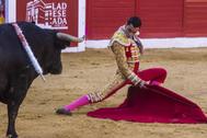 Paco Ureña, herido por el tercero en Palencia