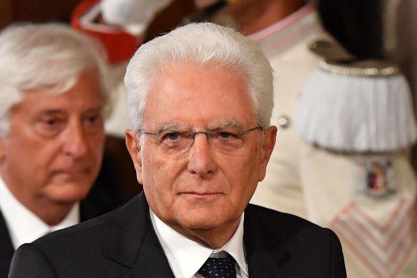 Rome (Italy).- Italian President Sergio <HIT>Mattarella</HIT> adresses...