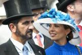 El emir de Dubai y la princesa Haya