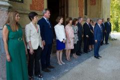 El lehendakari y los consejeros antes de reunirse el primer consejo tras el verano.