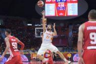 Llull lanza ante Túnez, en el debut de España en Guangzhou.