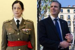 De izq. a dcha., Juan Chicharro, Patricia Ortega y Javier Ortega Smith