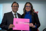 El conseller de Hacienda, Vicent Soler, el día que presentó los presupuestos junto a la vicepresidenta Mónica Oltra.
