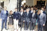 El presidente Puig, en el pleno de constitución de la Diputación de Alicante, junto a Mazón