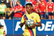 Ansu Fati, durante el partido ante Osasuna.