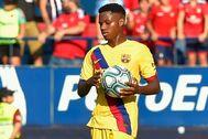 Ansu Fati, durante el Osasuna-Barça.