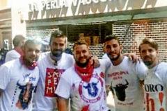Los cinco jóvenes de 'La Manada', en Pamplona en 2016.