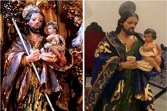 El san José de Lora del Río antes y después de la restauración.