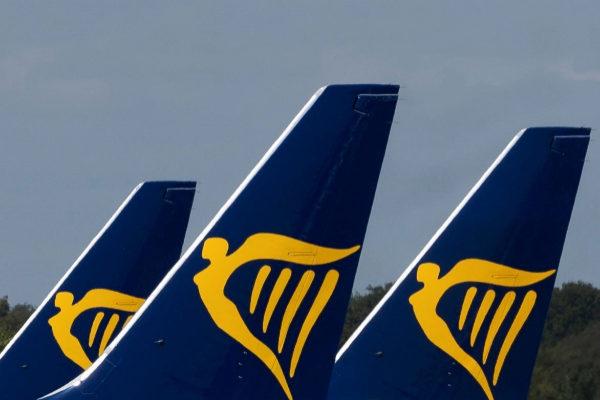 Aviones de Ryanair en el aeropuerto británico de Stansted.