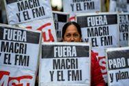 Manifestación en Buenos Aires contra las políticas de Macri, el pasado 30 de agosto.